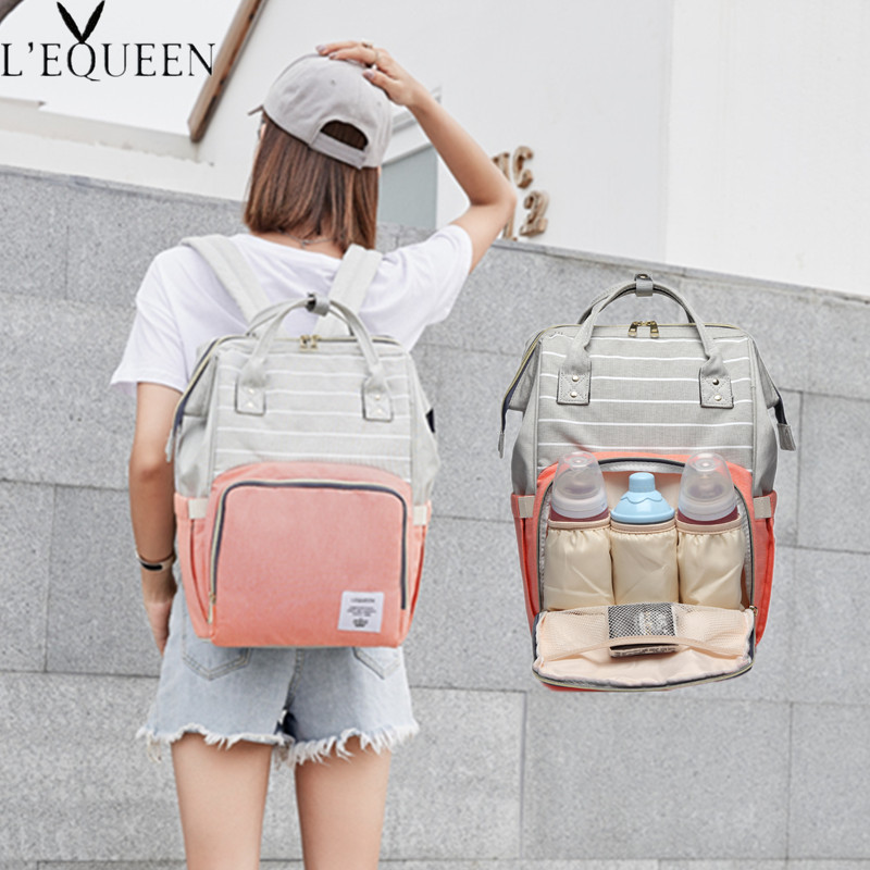 HTB1NPM9XfvsK1Rjy0Fiq6zwtXXai Fashion Mummy Maternity Nappy Bag Large Capacity Baby Bag Travel Backpack Nursing Bag for Baby Care Nappy Hand Bag