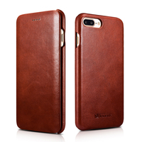Vintage Luxury Genuine Leather Original Mobile Phone Cases for iPhone Xs Max XR X 8 7 6 6s Plus Full Edge Closed Flip Cover