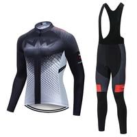 2019 NW Pro autumn long sleeve Cycling jersey Set bib pants ropa ciclismo bicycle clothing MTB bike jersey Uniform Men's clothes