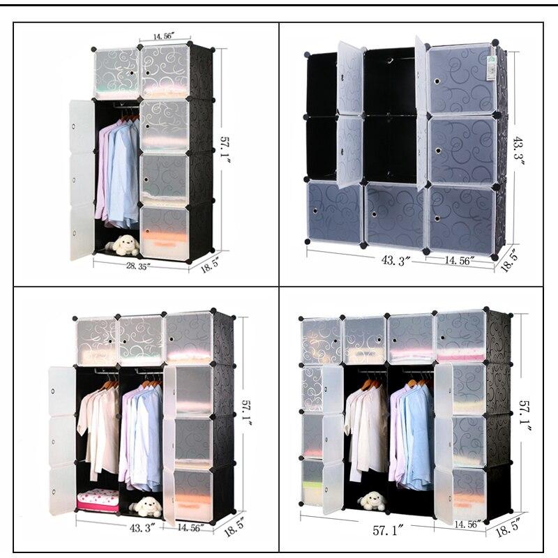 Prwman negro floral impresión Muebles ropa armario DIY magia Pieza ...