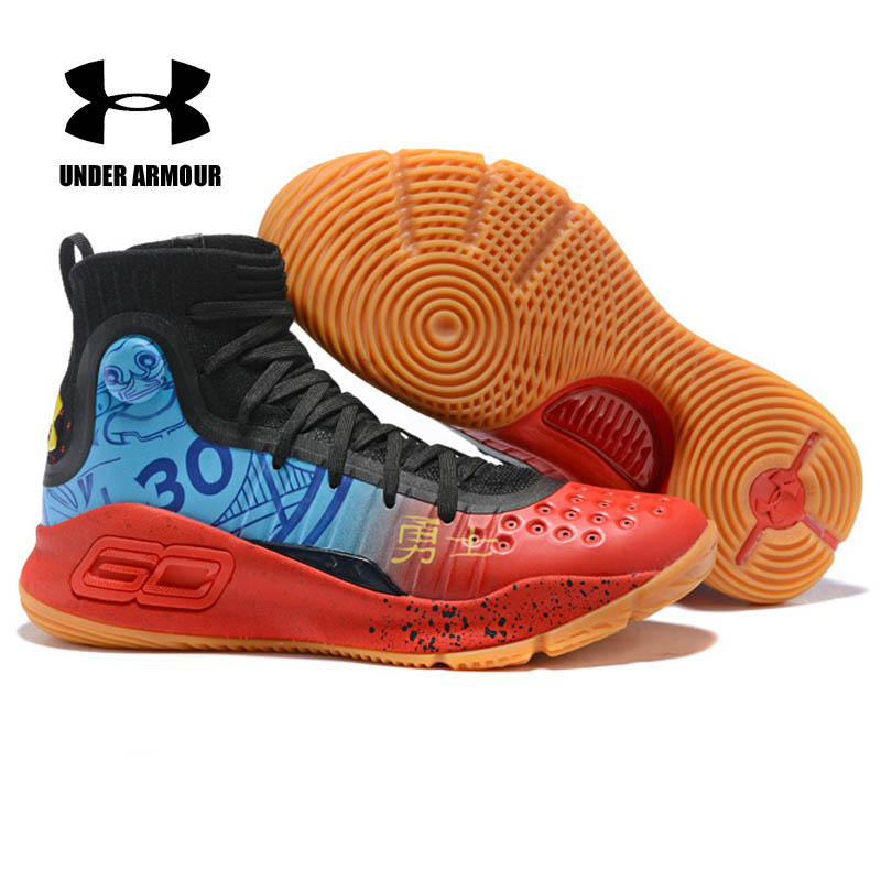 ec8e5cc27893 Under Armour Men Basketball Shoes Curry 4 sock sneakers Stephen Curry  Training Boots Zapatillas hombre deportiva