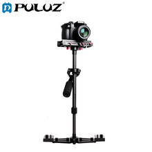 PULUZ 40-67cm Aviation Aluminum + Carbon Fiber Professional Steadicam Handheld Stabilizer for DSLR Camera DV GoPro Stand Holder phtical carbon fiber professional dslr handheld stabilizer steadicam with bag for canon nokin camcorder camera dv loading 2kg