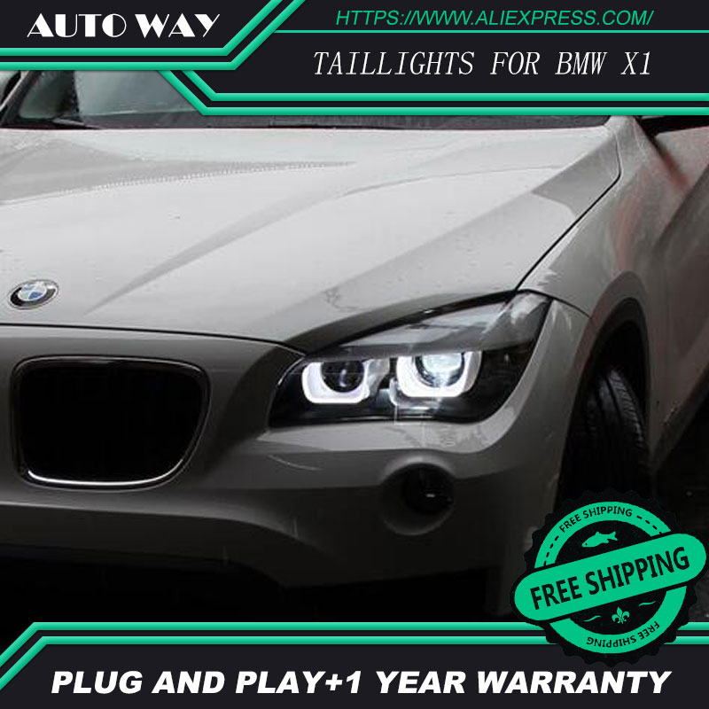 Free shipping ! Car styling LED HID Rio LED headlights Head Lamp case for BMW X1 2013 2014 2015 Bi-Xenon Lens low beam 2pcs 12v 31mm 36mm 39mm 41mm canbus led auto festoon light error free interior doom lamp car styling for volvo bmw audi benz