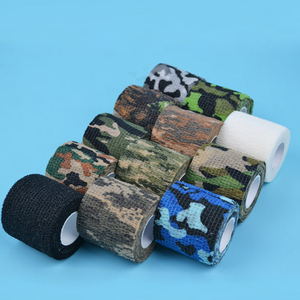 Image 2 - 4.5Cm*5M Hunting Tape Camouflage Stealth Camping Hunt Shooting Tool Series Of Waterproof Non woven Tape Mixed Adhesive Camo Tap
