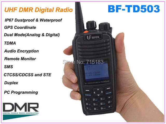 US $332 0 |BF TD503 UHF 400 470MHz DMR Digital Portable Two way Radio (  Analog&Digital) with GPS Coordinate,IP67 Waterproof dustproof-in Walkie  Talkie
