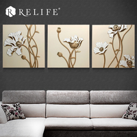 100% Handmade Modular Wall Art Triptych Paintings for Living Room on the Wall Decorative Pictures