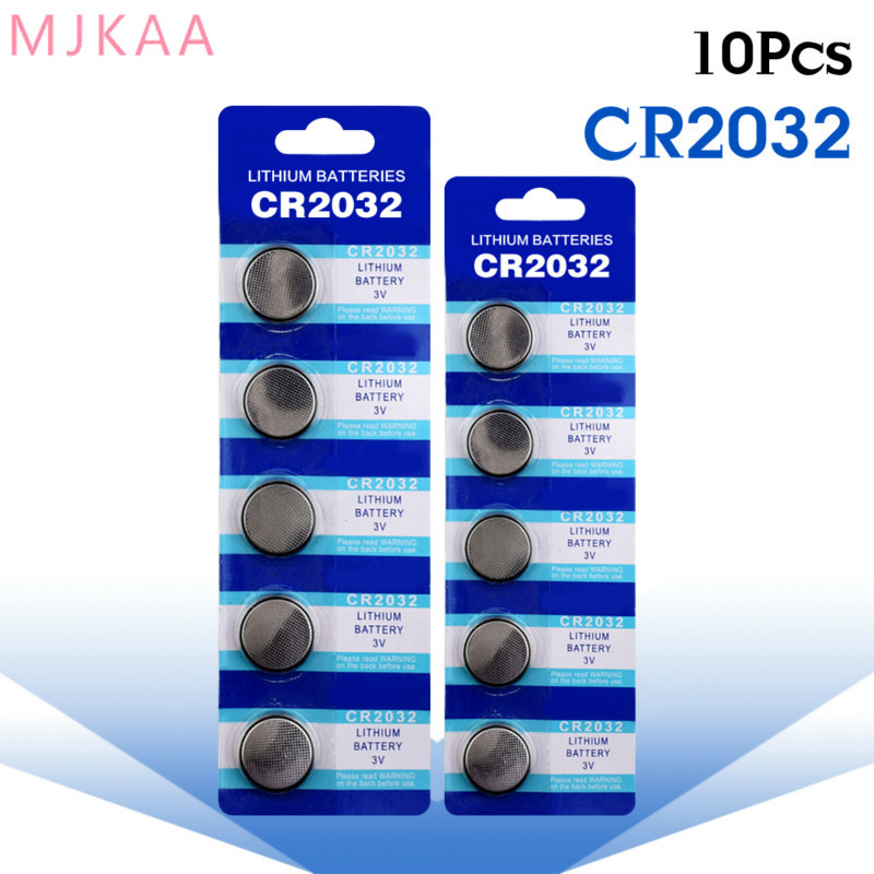 10 Pcs / Bag <font><b>CR2032</b></font> Button <font><b>Battery</b></font> BR2032 DL2032 ECR2032 3V CR 2032 for Watch Electronic Toy Remote Control Coin Lithium <font><b>Battery</b></font> image