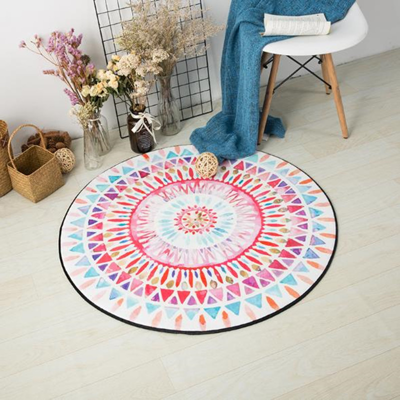 Nordic Cartoon Carpets Round Rugs And For Home Living Room Floor Mat Bedroom Colorful Kid Large Area Carpet
