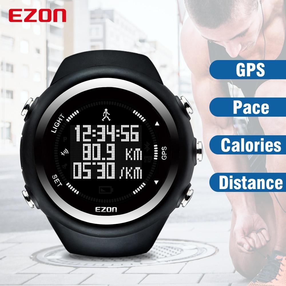 EZON Sport Watch Running 50m Waterproof Men Monitor GPS Timing Digital Distance-Speed