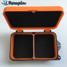 Plastic Earthworm Worm Bait Lure Fly Carp Fishing Tackle Box Accessories 2 Compartments Fishing Box 10 * 6 * 3.2cm