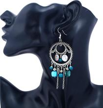 NANBO statement Earrings for women Beautiful Bohemian Silver Shell Tassel Women Metal tide MX1412