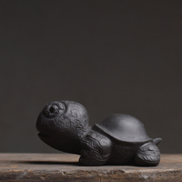 Authentic Yixing Purple Clay Fengshui Tea Pet Lovely Big Head Turtle China Kung Fu Tea Set
