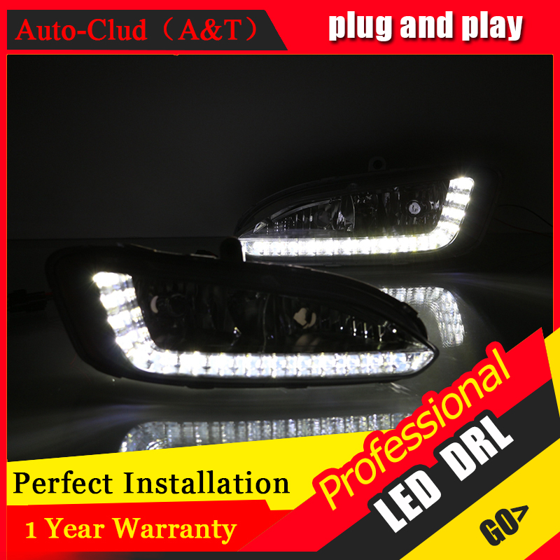 Auto Clud car styling For Hyundai IX45 LED DRL For Hyundai IX45 led fog lamps daytime running light High brightness guide LED DR auto clud car styling for toyota highlander led drl for highlander high brightness guide led drl led fog lamps daytime running l