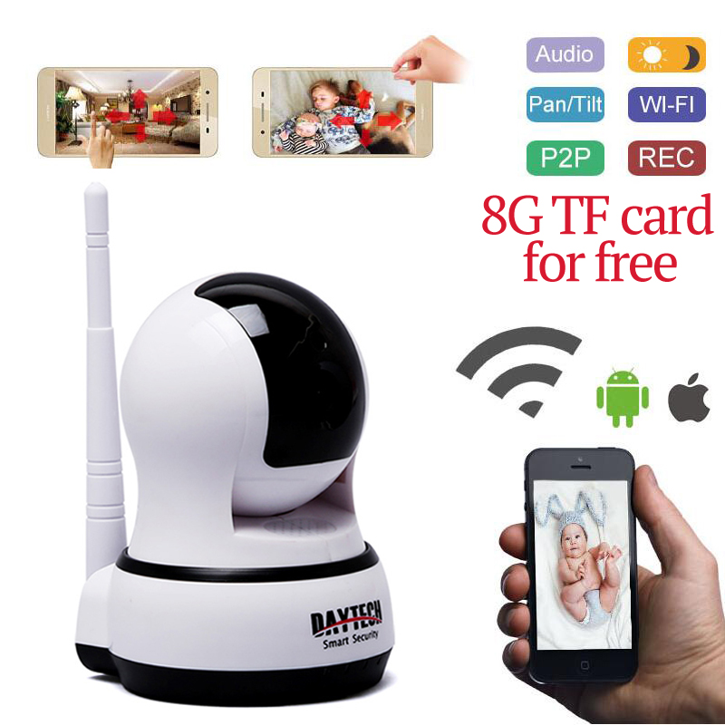 ФОТО DAYTECH WiFi IP Camera Home Wireless mini Surveillance security Camera 720P HD Network Baby Monitor Indoor CCTV Two Way Audio
