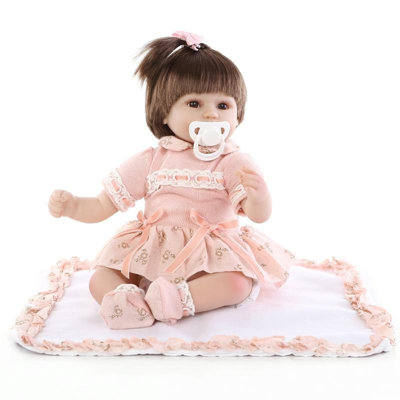 ФОТО New Fashion 43 cm baby reborn baby dolls lifelike doll reborn babies toys soft silicone baby toys real touch lovely newborn