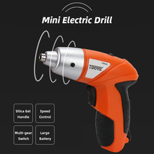 цена на Cordless Screwdriver 220V Lithium Battery Mini Electric Drill 4.8V Rechargeable Hand Drill Small Power Tools with LED Light