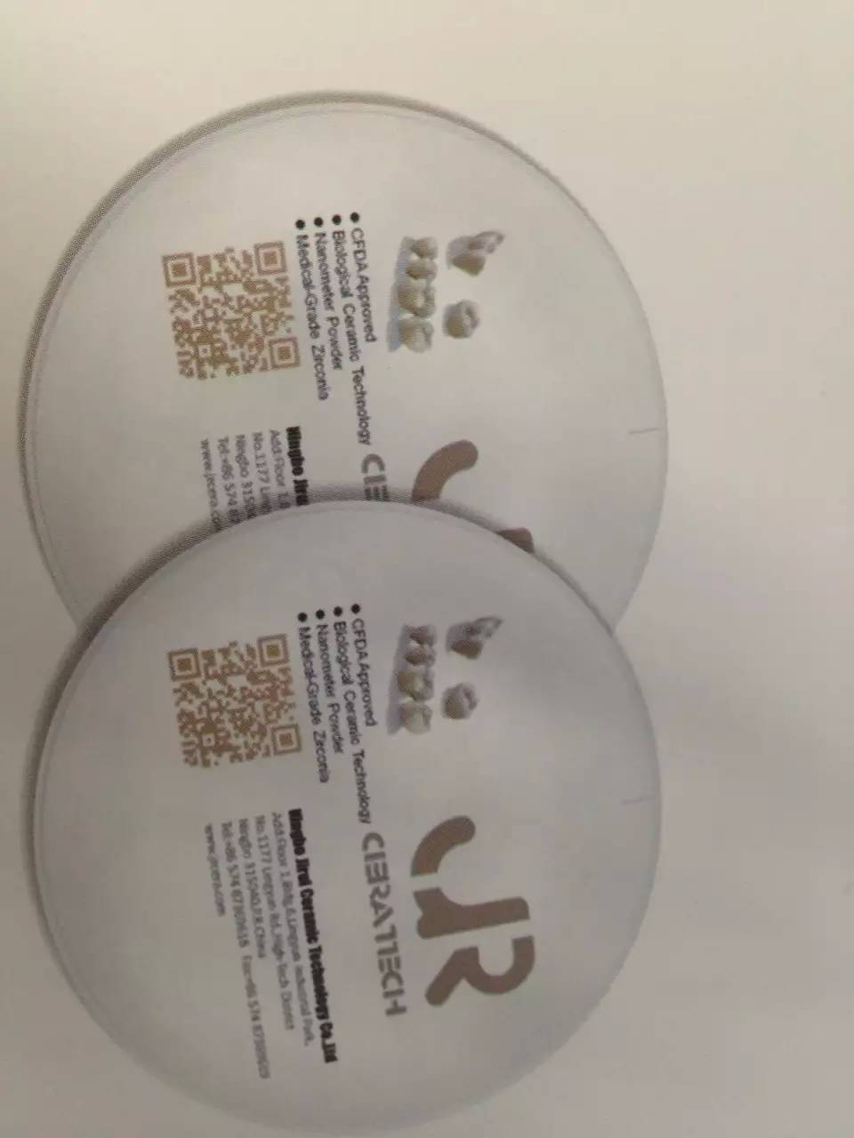 OD98mm*18mm Super Translucent Dental Zirconia Block Discs For Lab CADCAM