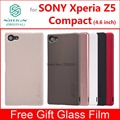 for Sony Xperia Z5 Compact case cover Nillkin frosted case for sony xperia z5 compact with Glass film