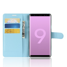 YINGHUI for Samsung Galaxy Note 9 Case Wallet Style Litchi Texture Flip Leather Case Cover for Samsung Galaxy Note 9 Note9
