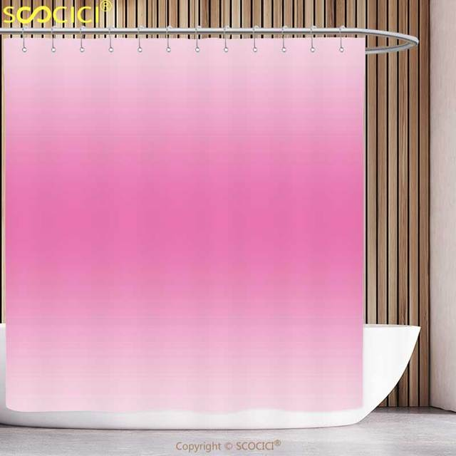 Polyester Shower Curtain Ombre Fairytale Cotton Candy Inspired Girly Design Room Decorations Digital Modern Art Print Pink