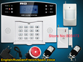 Quad bandas GSM sistemas de alarme sistema de alarme sistema de alarme Home 2 anos de garantia Espanhol Russo Voz e manual Engish