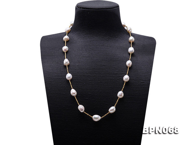 Natural Baroque Pearl Jewellery White Color 11-13.5MM Freshwater Pearl Necklace 50cm Charming Women Gift Birthday Gift JewelleryNatural Baroque Pearl Jewellery White Color 11-13.5MM Freshwater Pearl Necklace 50cm Charming Women Gift Birthday Gift Jewellery