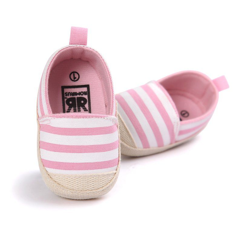 Y27 Newborn Baby Boys Girls Striped Shoes Infant First Walkers Soft Sole Toddler Baby Shoes New