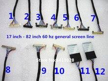 17 אינץ כדי 82 אינץ 60 hz ge lvds LCD קו LCD מסך קו לחתן (12pcs)