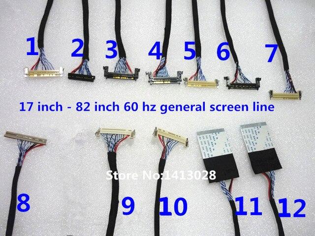 17 pouces à 82 pouces 60 hz ge une ligne de ligne décran LCD LVDS LCD (12 pièces)