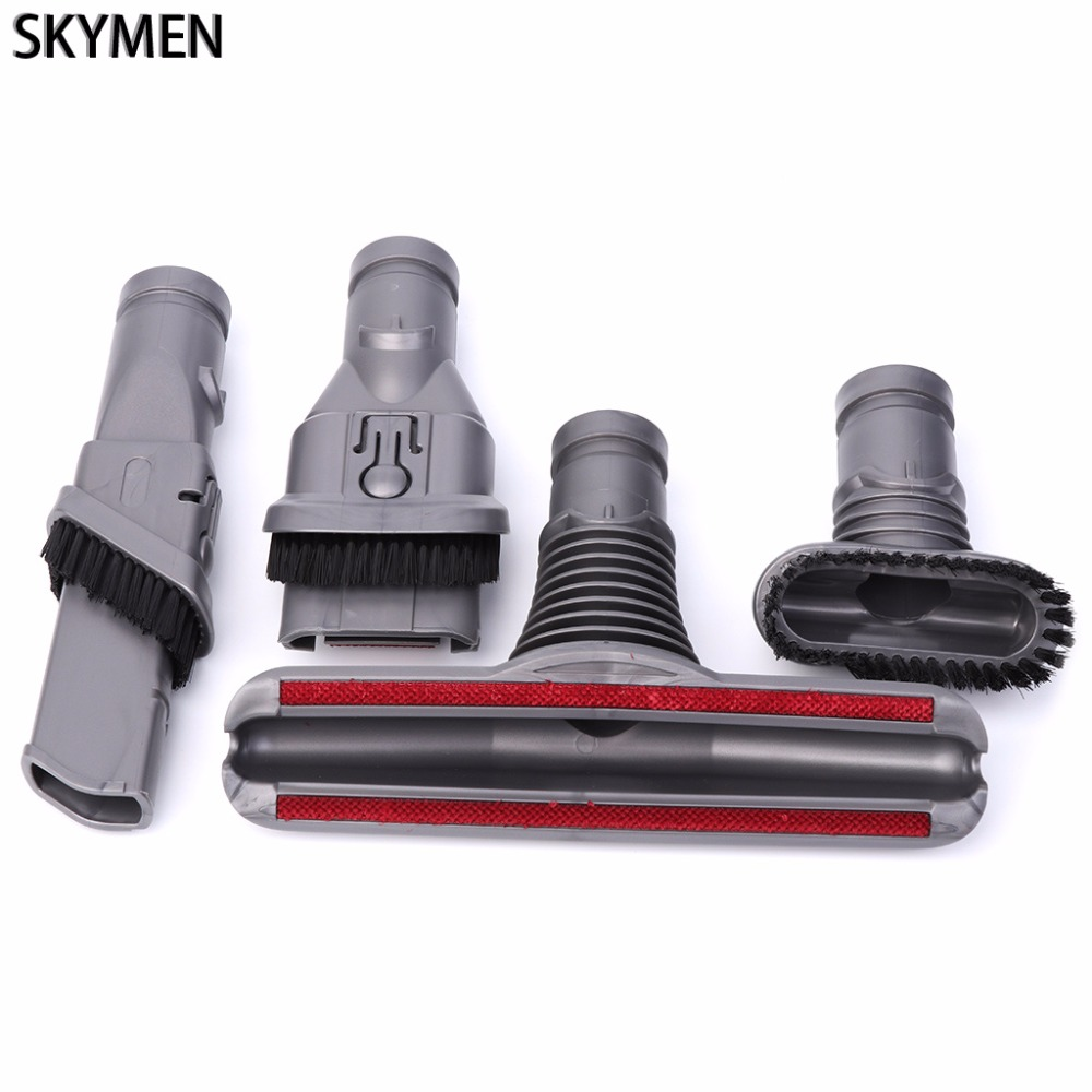 SKYMEN Multi-Purpose Suction Nozzle Brush Head 4-In-1 Set For Dyson Vacuum Cleaner Parts 2 in 1 fiber optic multi purpose professional high grade diagnostic medical ent portable otoscope ophthalmoscope replace head