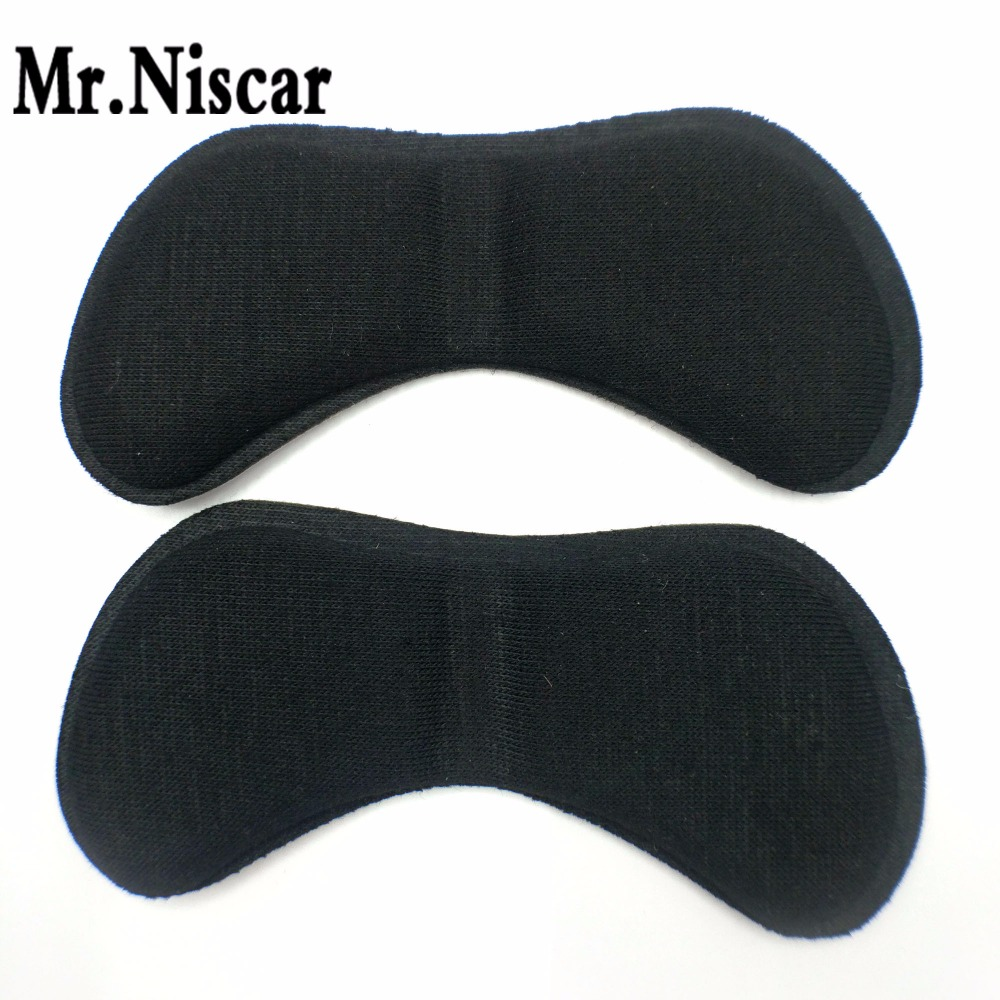 Mr.Niscar 1 Pair Black Shoe Cushion Comfort Women High Heel Soft Anti-slip Heel inserts Insoles Pads Sponge Foot Care Tools 100 pairs fabric faced foot care feet insoles invisible cushion silicone gel anti slip heel liner shoe pads