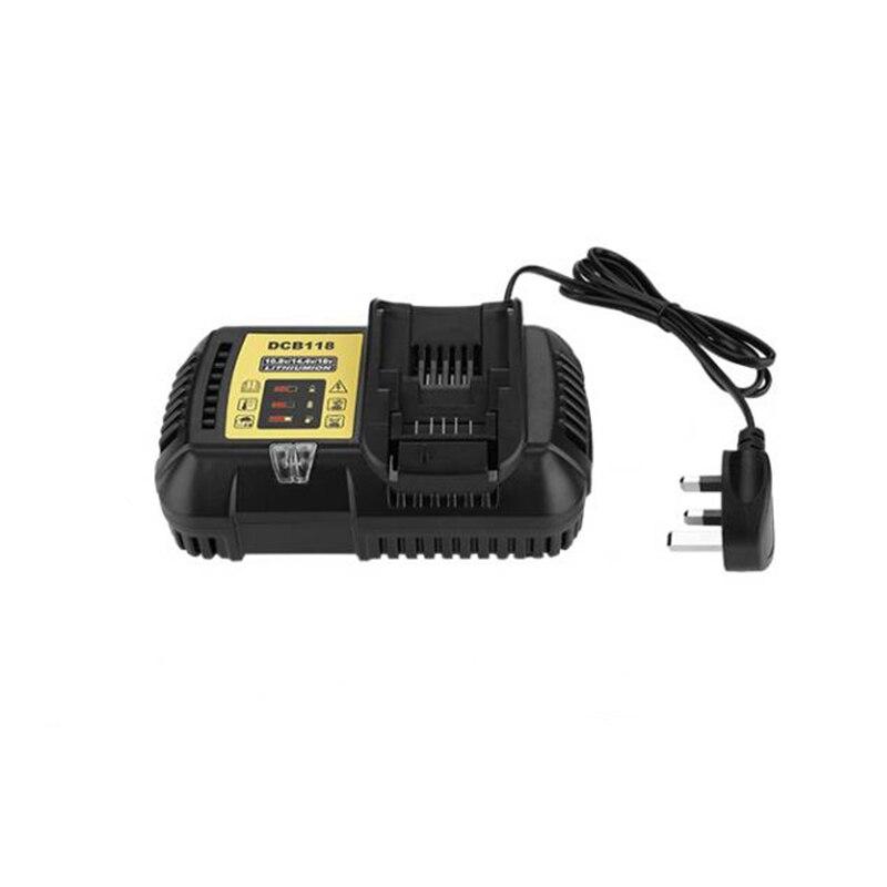Chargeur de batterie au Lithium Eu Plug 4.5A 100-240 V universel pour Dewalt 10.8 V/14.4 V/20 V (Max) chargeur rapide de batterie Lithium Ion