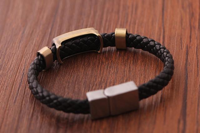 Naruto Logo Knit Black Bracelets