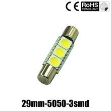 Light bulb fuse online shopping-the world largest light bulb fuse ...:10x White Festoon Fuse 28-29MM 5050 3SMD Sun visor Vanity Mirror Light bulb  6614,Lighting