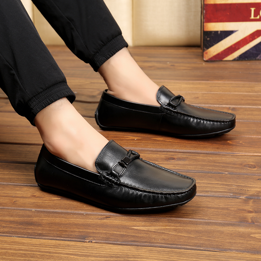 Genuínos Condução Quente Plana Sapatos Da De Couro Qualidade Mocassim Marca Recente 2017 Venda Mais Preto Casuais Luxo Homens Sargento Alta Oficial ZfqvHx
