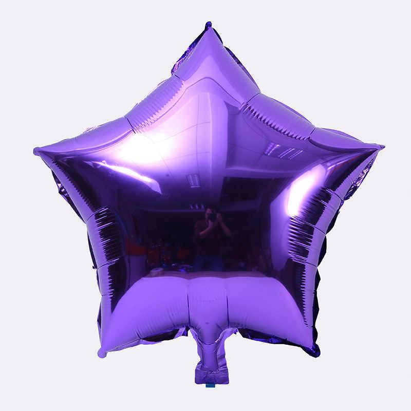10 piezas globo de helio estrella boda papel de aluminio globos de aire inflable regalo de fiesta de cumpleaños decoración 10 pulgadas