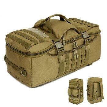 цена на Military Tactics Backpack 60L Large Capacity Multifunction Men Travel Bag Backpack Waterproof Nylon Shoulder Bag Rucksack