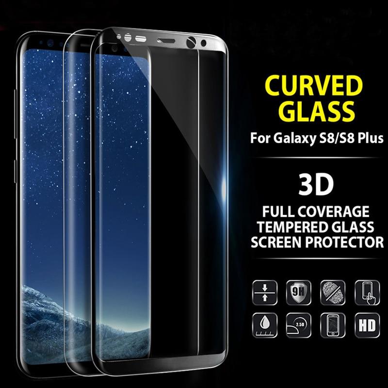 imágenes para 10 unids/lote Completo 3D Curvada 9 H Delantero Protector de Pantalla de protección Completa Cobertura de Cristal Templado de Cine Para Samsung Galaxy S8 S8 Más