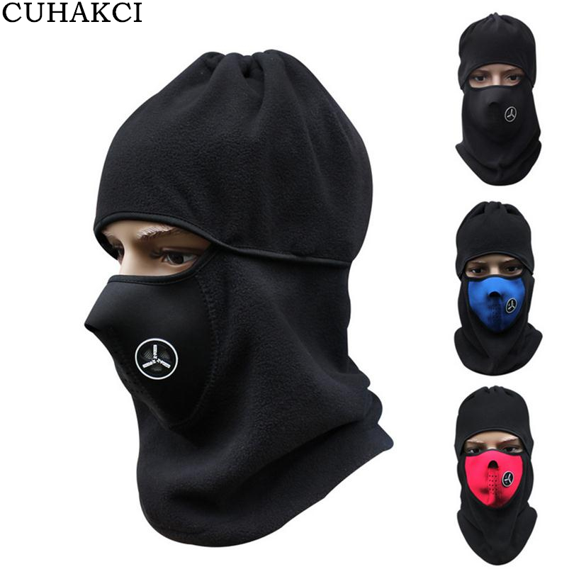 CUHAKCI Outdoor Skullies Windproof Cycle Bike Head Neck Hat Sport Fleece Beanies Face Mask Men Ski Snowboard Cap Helmet M034 d1406 2sd1406 to 220f