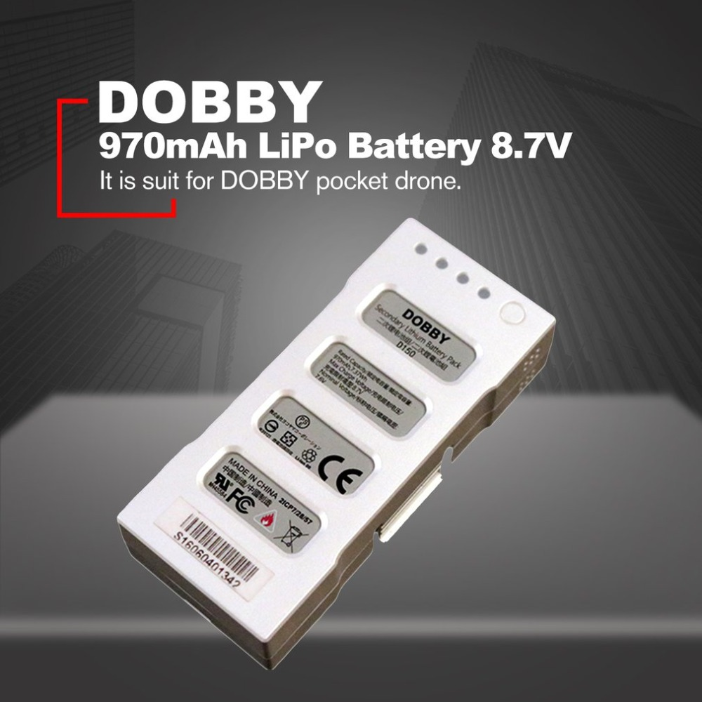 970mAh 8.7V 2S Dobby Intelligent Replacement Flight LiPo Battery For Dobby Pocket Selfie Drone Quadcopter Accessories