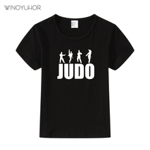 Children Fashion Print Judo Funny T-shirts Kids Cool Summer Short Sleeve Tees Tops Baby Casual Clothes For Boys Girls Tshirt