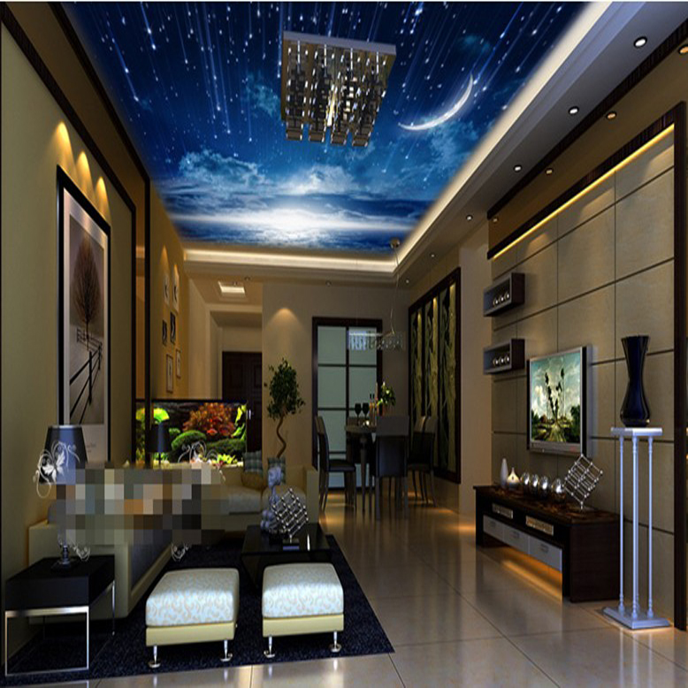 Outer Space Sky Stars 5D Papel Mural 3d Ceiling Mural