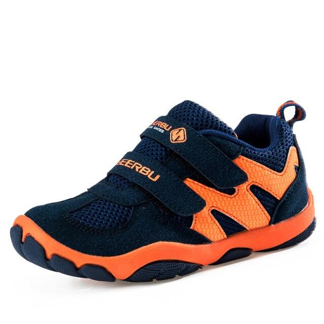 Новый 2016 Мальчики Детская Спортивная Обувь Дышащая Кроссовки Кроссовки Детская Обувь подножка для Заноса Воздухопроницаемой сеткой детская обувь Мальчиков