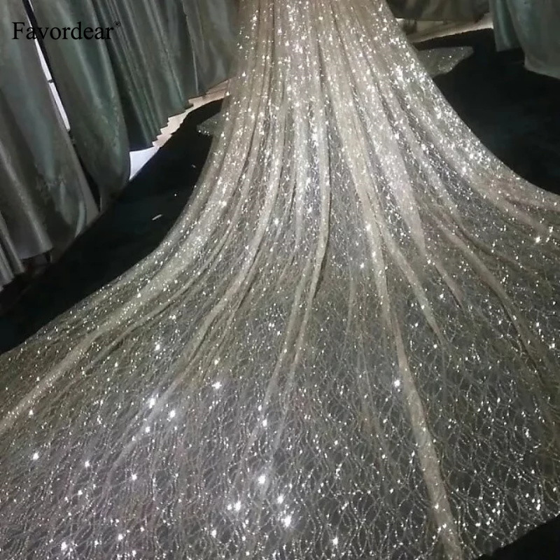 5220576957c3e FLASH SALE] Sequin wedding accessories champagne 3.5 meters wedding ...