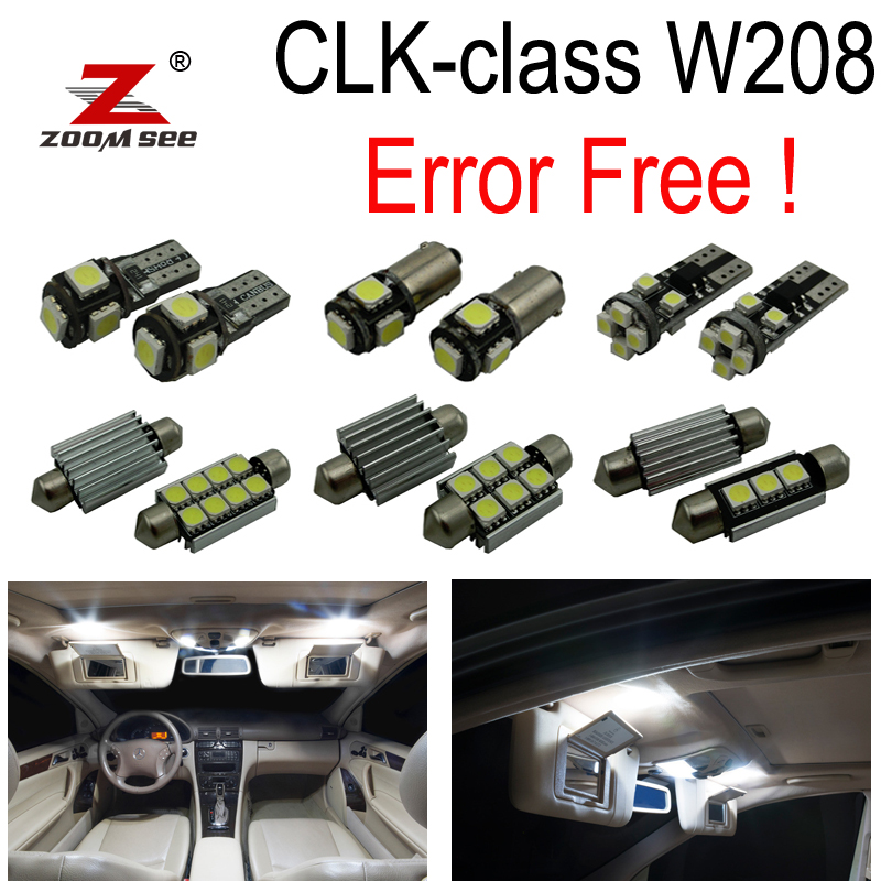 16pc Error free LED Bulb Interior dome Light Kit For Mercedes for Mercedes-Benz CLK class W208 CLK320 CLK430 CLK55 AMG (98-02) 11pcs error free interior led map dome light kit for mercedes benz c class w202 c220 c230 c280 c36 amg 1993 1999