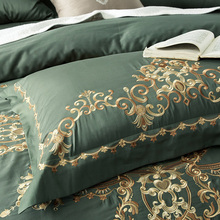 60SEgyptian Cotton Tribute silk Luxury Royal Bedding Set 4/6Pcs King Queen Size Wedding Bed Sheet set Duvet cover Pillowcases