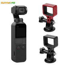 Sunnylife DJI OSMO Pocket Accessories Selfie Stick Aapter Base Mount Tripod Holder for Gopro Action Camera