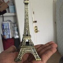 3pcs Metal Paris Eiffel Tower Crafts Creative Souvenir Model Table Miniaturas Desk Ornaments Vintage Figurine Craft