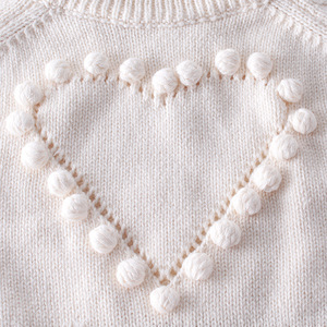 Image 3 - Baby Bodysuits hand knitted wool sweater power of love long sleeved coveralls package fart Bodysuits climbing clothes