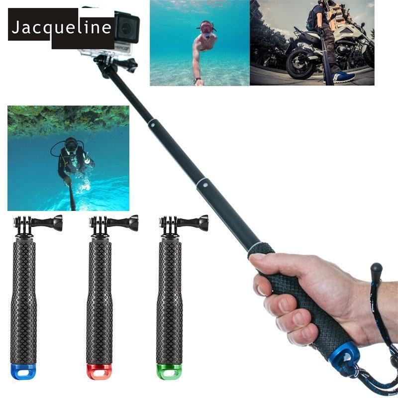 ז'קלין מתחת למים Waterproof Selfy מקלות Monopod עבור Gopro גיבור HD 6 5 4 3+ 3 עבור SJCAM עבור EKEN
